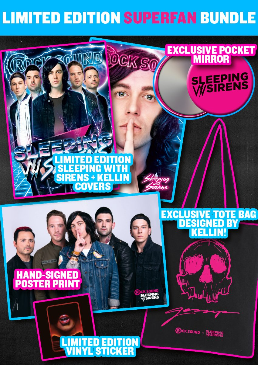 Rock Sound Issue 231.4 - Sleeping With Sirens 'Superfan' Bundle - Rock Sound Shop