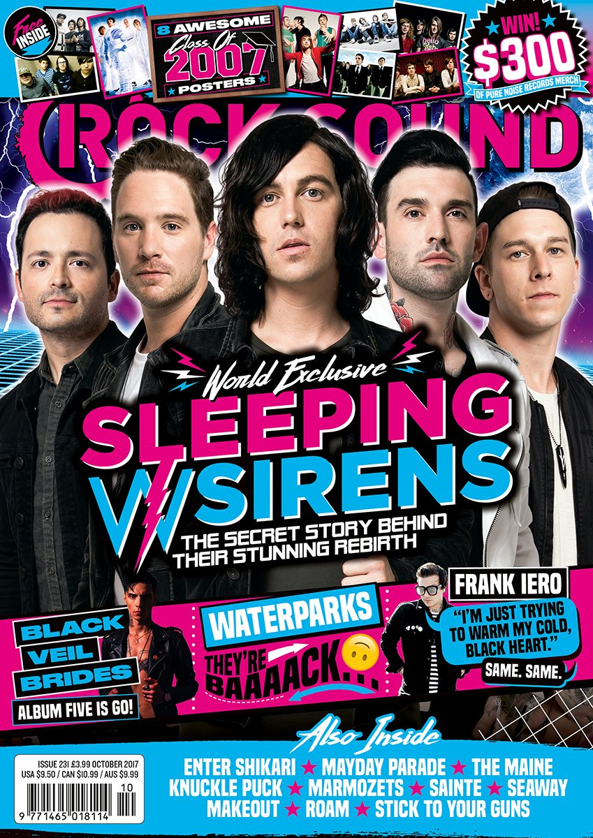 Rock Sound Issue 231.1 - Sleeping With Sirens - Rock Sound Shop