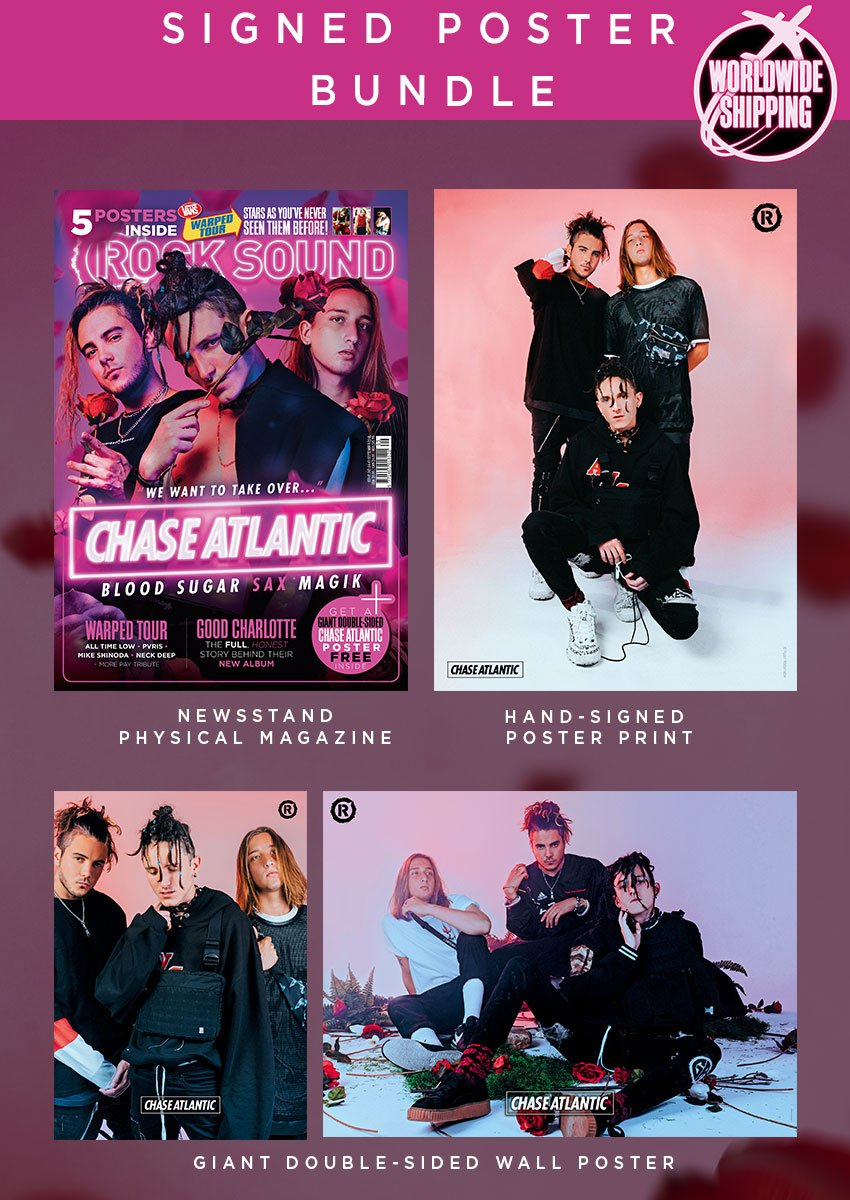 Rock Sound Issue 243.3 - Chase Atlantic Signed Poster Bundle - Rock Sound Shop