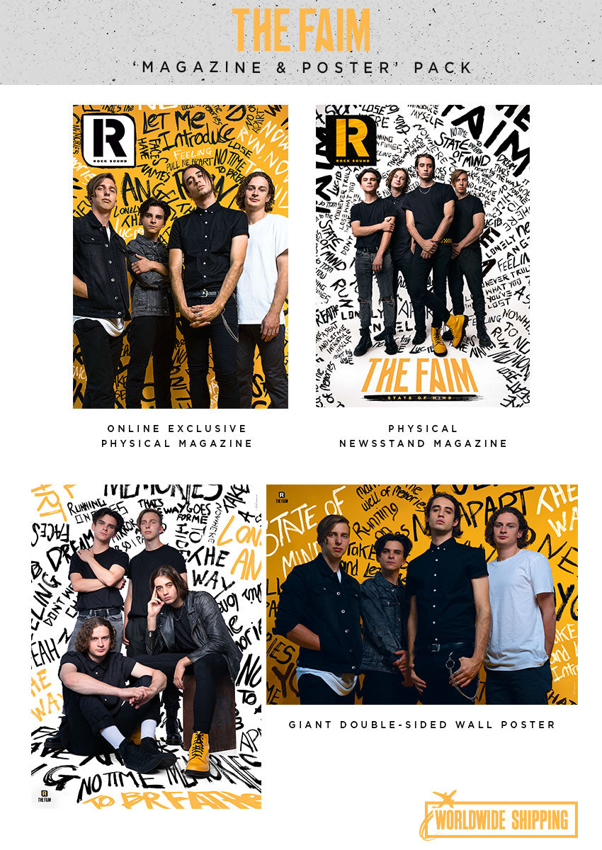 Rock Sound Issue 256.1 - The Faim Magazine & Poster Pack - Rock Sound Shop