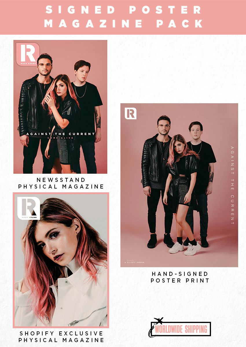 Rock Sound Issue 245.3 - Against The Current Signed Poster And Magazine Pack - Rock Sound Shop