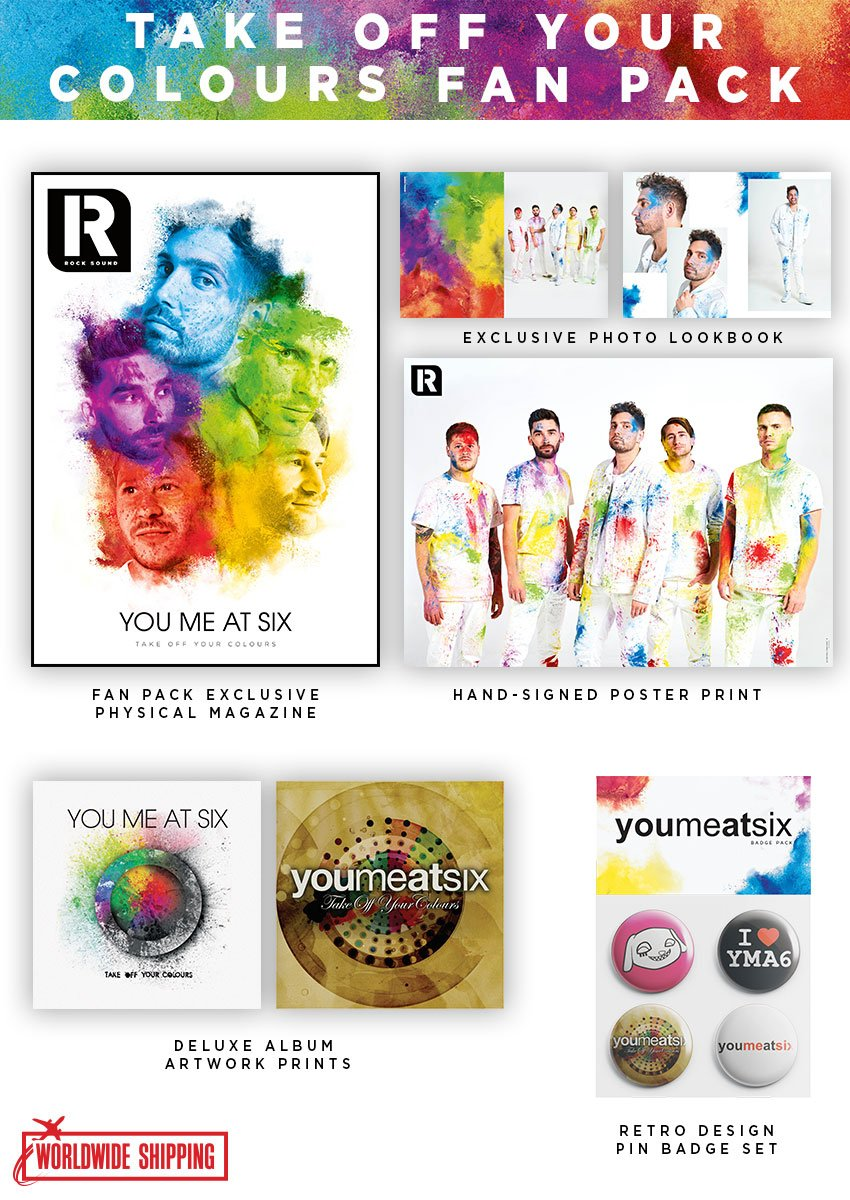 Rock Sound Issue 246.1 - You Me At Six 'Take Off Your Colours' Fan Pack - Rock Sound Shop