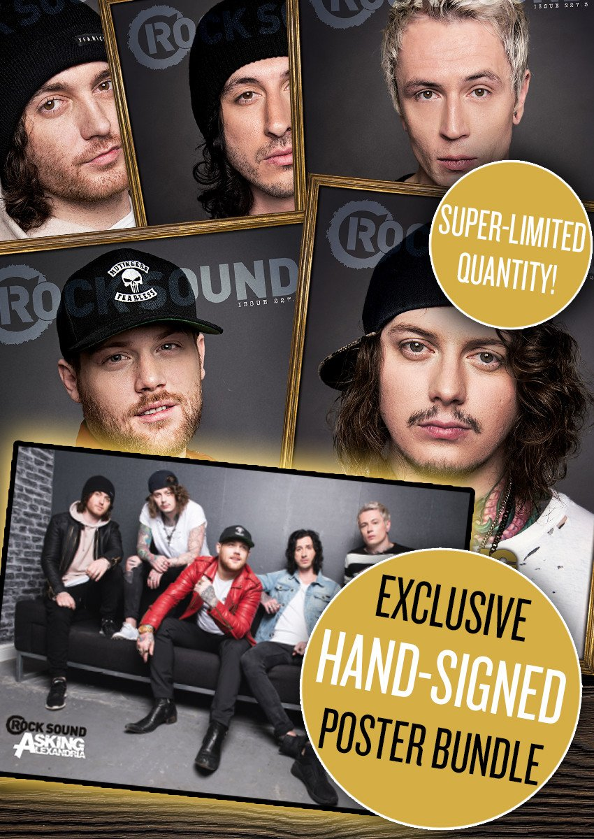 Rock Sound Issue 227.6 - Asking Alexandria (Signed Poster Bundle) - Rock Sound Shop