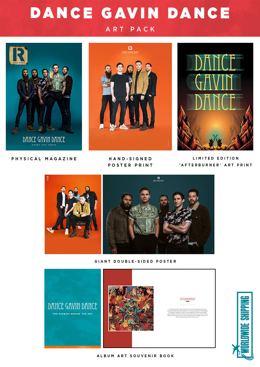 Rock Sound Issue 263.1 - Dance Gavin Dance Art Pack - Rock Sound Shop