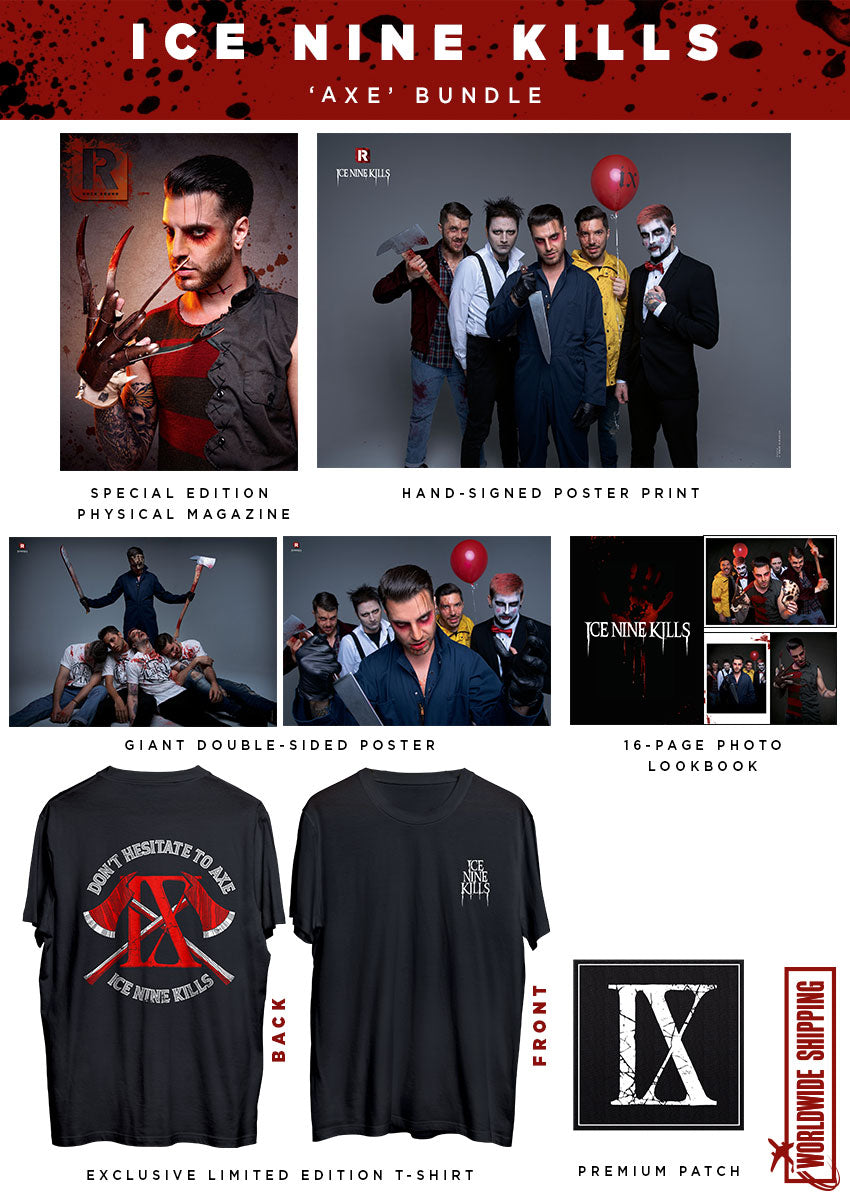 Rock Sound Issue 261.3 - Ice Nine Kills 'Axe' Bundle - Rock Sound Shop
