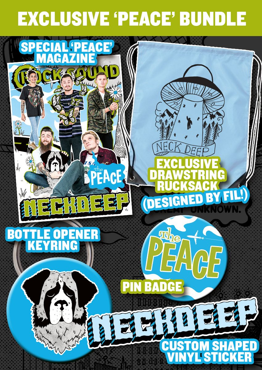 Rock Sound Issue 230.3 - Neck Deep 'Peace' Bundle - Rock Sound Shop