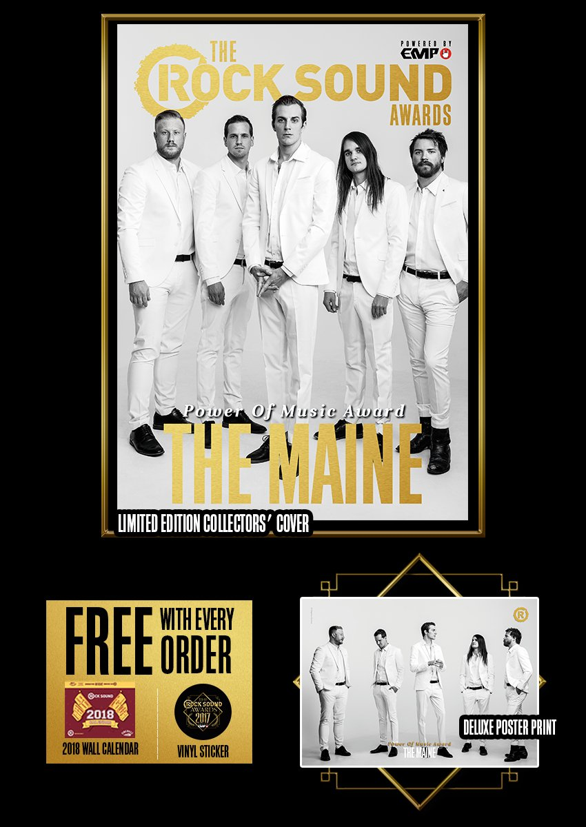 Rock Sound Awards 234.5 - The Maine - Rock Sound Shop