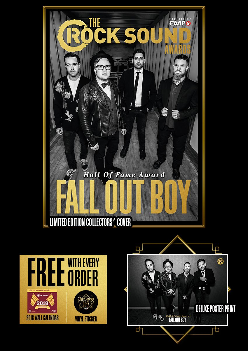 Rock Sound Awards 234.9 - Fall Out Boy - Rock Sound Shop