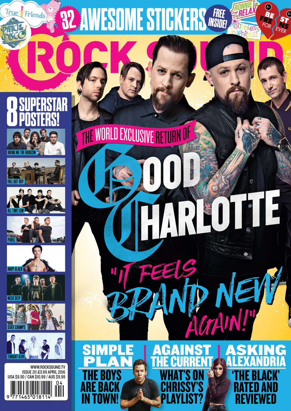 Rock Sound Issue 211 - Good Charlotte - Rock Sound Shop