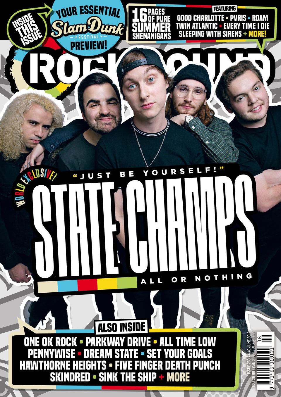 State Champs:   Rock Sound 239.   FULL story of their new album 'Living Proof'