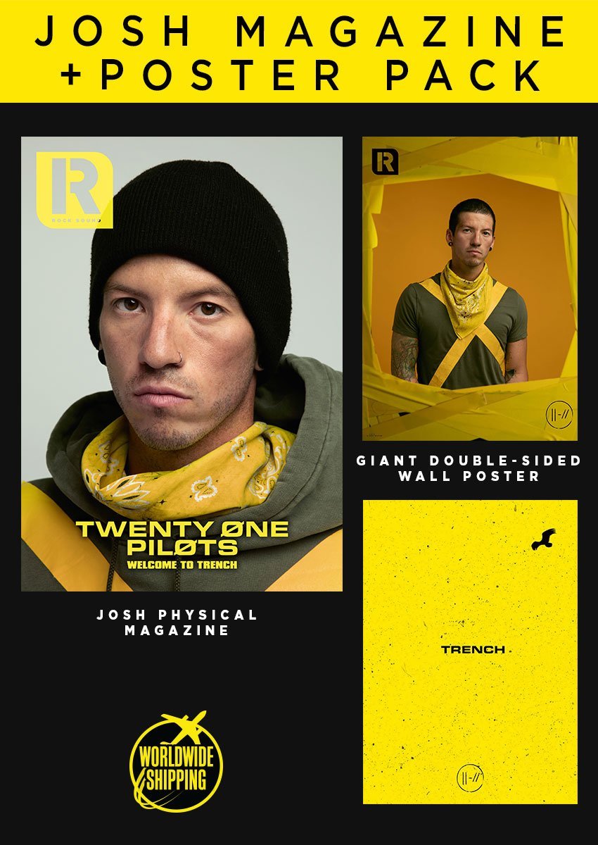 Rock Sound Issue 244.2 - Twenty One Pilots Josh Magazine + Poster Pack - Rock Sound Shop