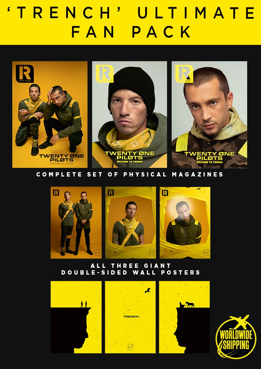 Rock Sound Issue 244.4 - Twenty One Pilots Trench Ultimate Fan Pack - Rock Sound Shop Tyler Joseph and Josh Dun.  Over 30 pages of T0P 21 Pilots content!