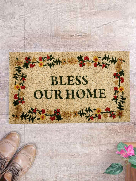 SWHF Premium Coir and Rubber Quirky Design Door and Floor Mat : Bless Your Home - SWHF
