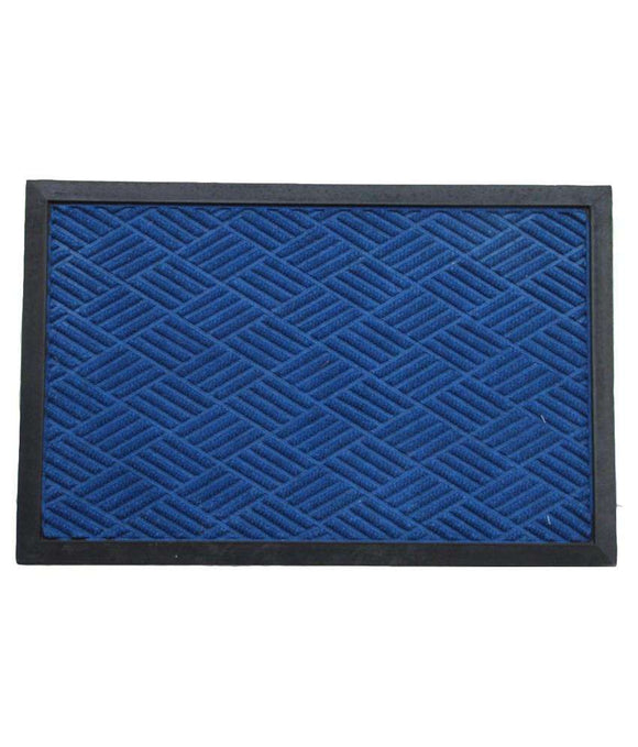 SWHF Premium PP and Rubber Door and Floor Mat Virgin Rubber and Extremely Durable : Navy Blue - SWHF
