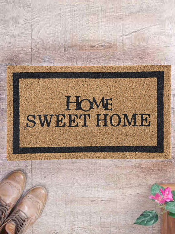 SWHF Premium Coir and Rubber Quirky Design Door and Floor Mat : Home Sweet Home