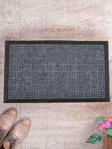SWHF Premium PP and Rubber Door and Floor Mat : Virgin Rubber and Extremely Durable : Grey Criscross - SWHF