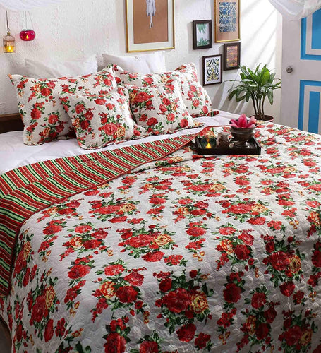 Turu Cotton 5 Piece Bedding and Quilt Set - SWHF