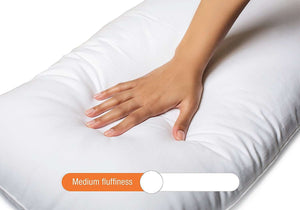 SWHF Premium Siliconised Super Soft Queen Size Pillow: 17 x 27 Inch - SWHF