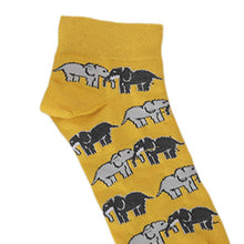 Load image into Gallery viewer, SWHF Organic Cotton Ankle  Designer Socks - Elephant