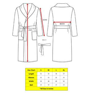 Turkish Bath Premium Cotton Unisex Bathrobe - Brown