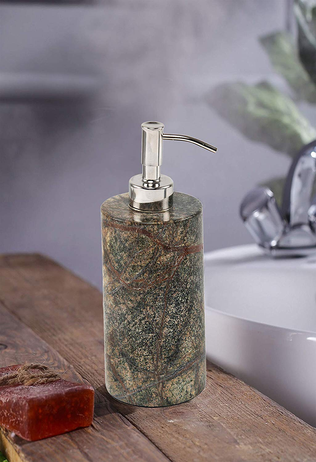 Chic Home Marble Liquid Soap Dispensers-Green - SWHF
