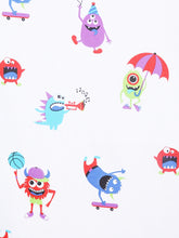 Load image into Gallery viewer, SWHF Chic Home Kids 180 TC Cotton Single Bedsheet with One Pillow Covers (Monsters Hunt)