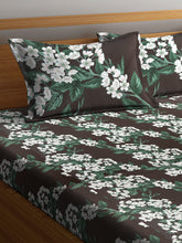 Load image into Gallery viewer, Chic Home 144 TC Cotton Double Bedsheet with 2 Pillow Covers-Green - SWHF