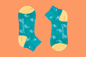 SWHF Organic Cotton Ankle  Designer Socks - Cycle - SWHF