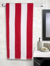 Load image into Gallery viewer, Turkish Bath Premium Cotton Stripe Bath and Pool Towel : Red - SWHF