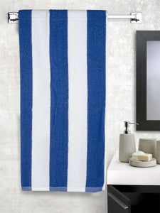 Turkish Bath Premium Cotton Stripe Bath and Pool Towel : Blue - SWHF