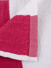 Load image into Gallery viewer, Turkish Bath Premium Cotton Stripe Bath and Pool Towel : Pink - SWHF