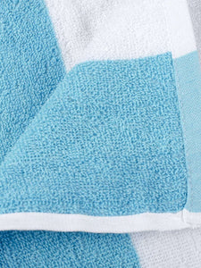Turkish Bath Premium Cotton Stripe Bath and Pool Towel : Sky Blue - SWHF
