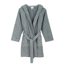 Load image into Gallery viewer, Turkish Bath Premium Cotton Unisex Kids Bathrobe -  Grey - SWHF