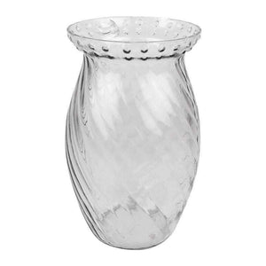 SWHF Wave Design Clear Vase:19 Cm - SWHF