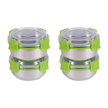 Load image into Gallery viewer, SWHF Stainless Steel Smart Lock Tiffin/Lunch Box (300 ml, 10 cm, Green)