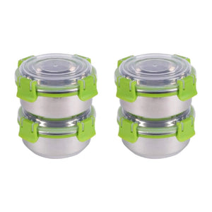 SWHF Stainless Steel Smart Lock Tiffin/Lunch Box (300 ml, 10 cm, Green)