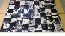 Load image into Gallery viewer, SWHF Large Leather Rug Patch Work: Black and White - SWHF