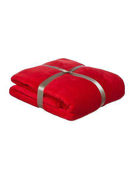 SWHF French Fleece Blanket: Red - SWHF