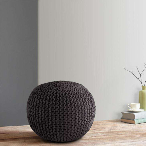SWHF Knitted Pouf Grey - SWHF