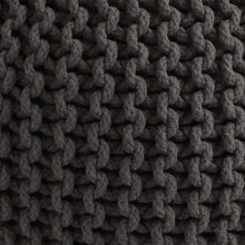 Load image into Gallery viewer, SWHF Knitted Pouf Grey - SWHF