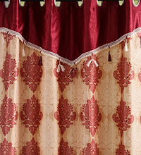 Load image into Gallery viewer, SWHF Printed Curtains: Paisley Red and Gold