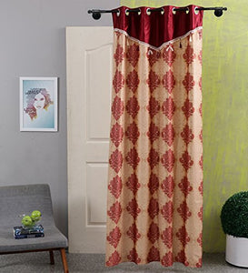 SWHF Printed Curtains: Paisley Red and Gold