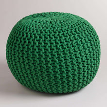 Load image into Gallery viewer, SWHF Knotted Pouf: Bottle Green - SWHF