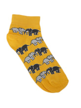 Load image into Gallery viewer, SWHF Organic Cotton Ankle  Designer Socks - Elephant - SWHF
