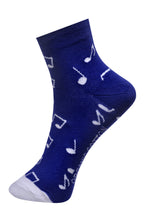 Load image into Gallery viewer, SWHF Organic Cotton Ankle  Designer Socks - Music - SWHF