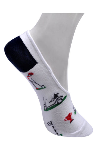 SWHF Organic Cotton No- Show Designer Socks -Golf - SWHF