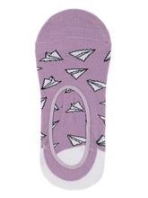 Load image into Gallery viewer, SWHF Organic Cotton No- Show Designer Socks - Plane - SWHF