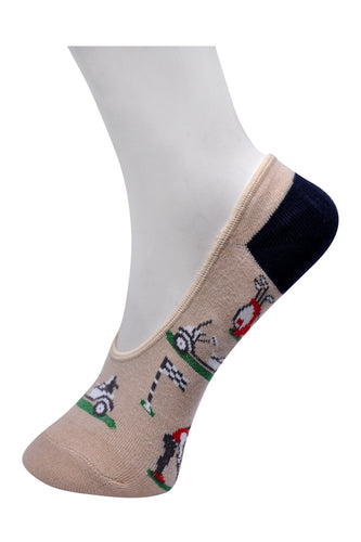 SWHF Organic Cotton No- Show Designer Socks - Golf - SWHF