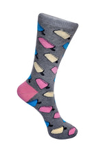 Load image into Gallery viewer, SWHF Organic Cotton Crew Length Designer Socks - Icecream - SWHF