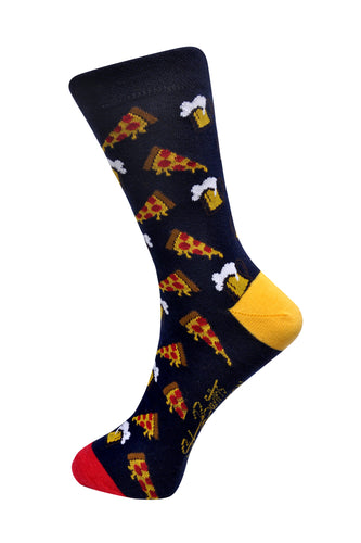 SWHF Organic Cotton Crew Length Designer Socks - Pizza - SWHF